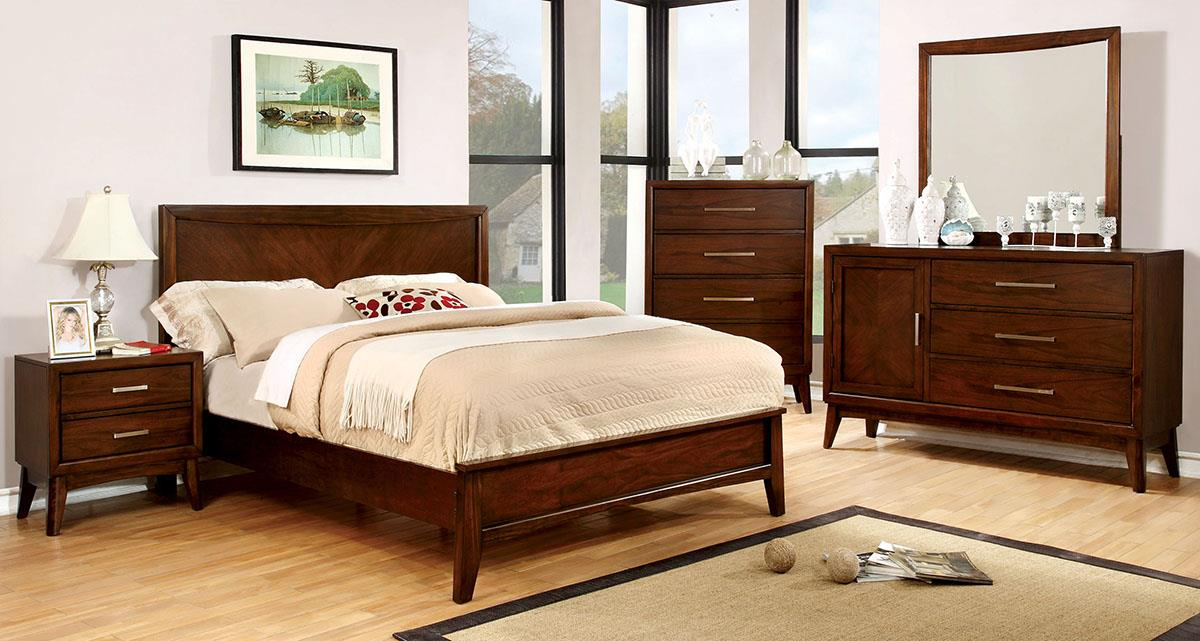 Snyder Brown Cherry King Bed