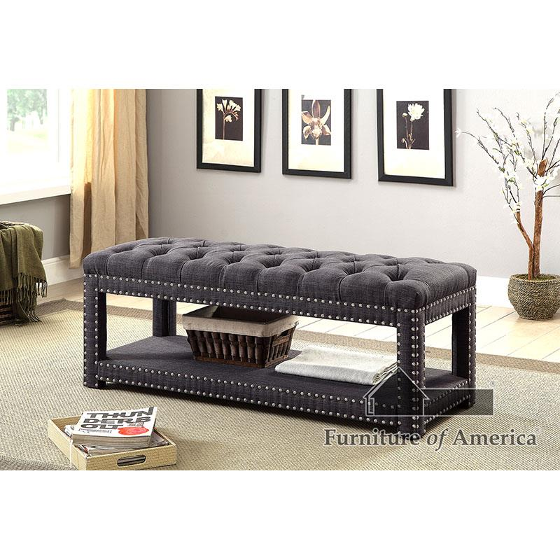 Einar Dark Gray Bench