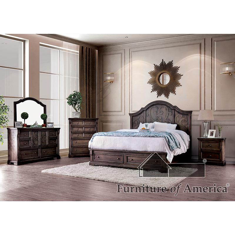 Amadora Walnut King Bed
