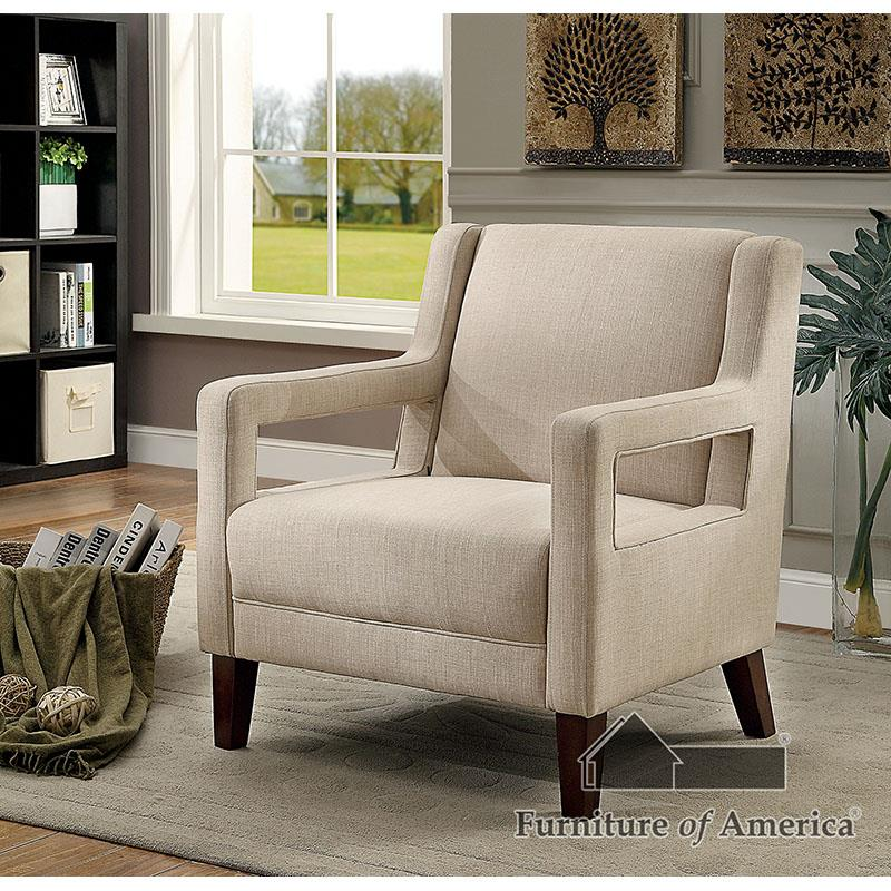 Samia Ivory Accent Chair