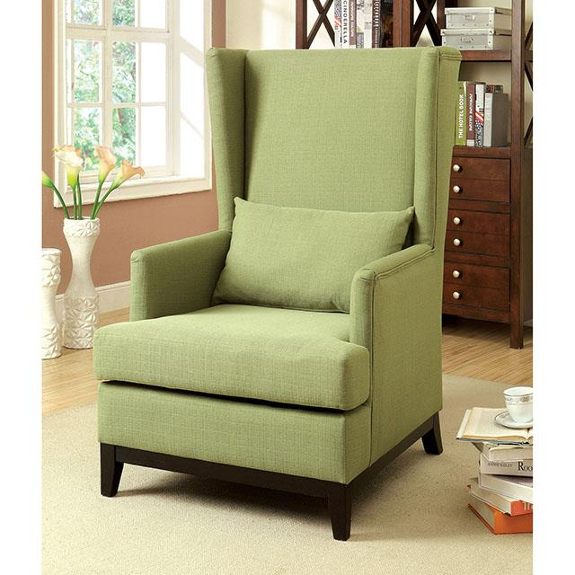 Stafa Green Accent Chair