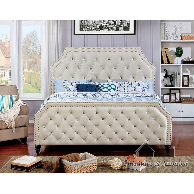 Claudine Beige King Bed