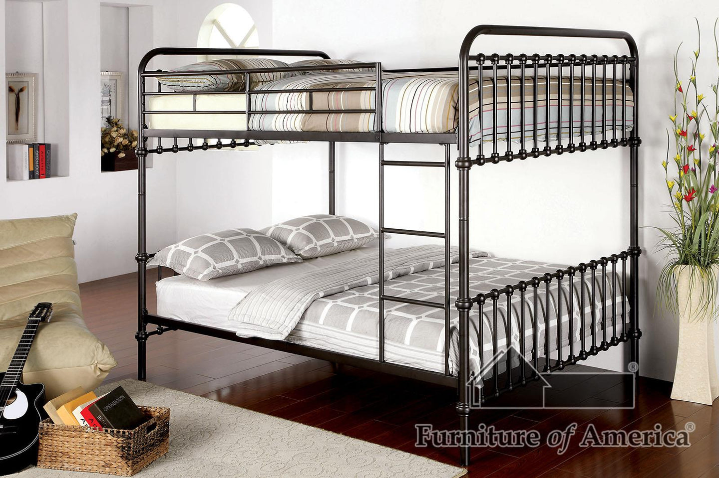 Oria Dark Bronze Bunk Bed