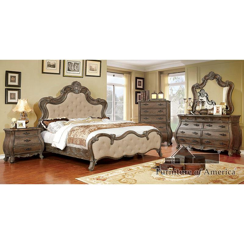 Cursa Beige/rustic Natural Tone King Bed