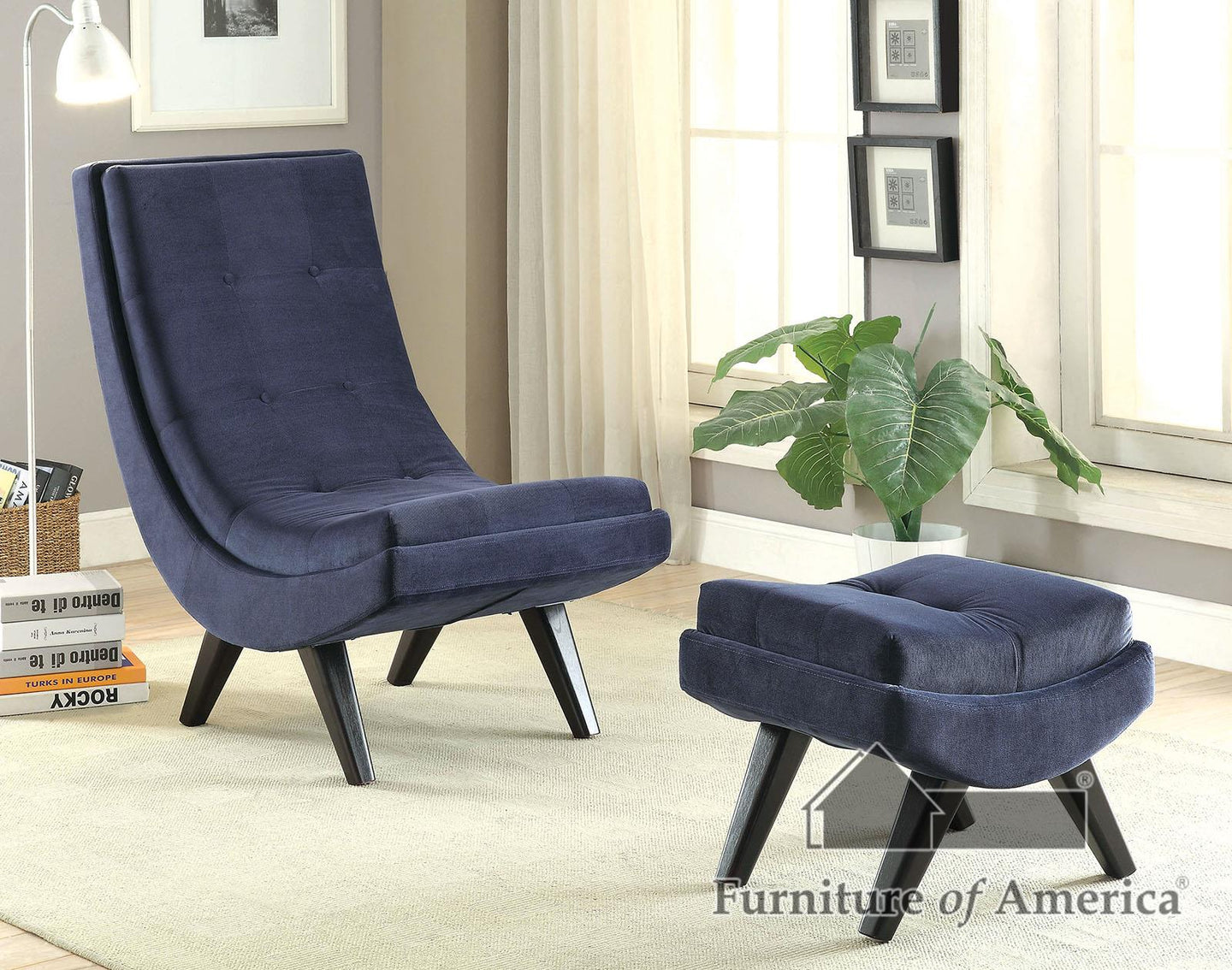Cm-ac6839 Navy Accent Chair