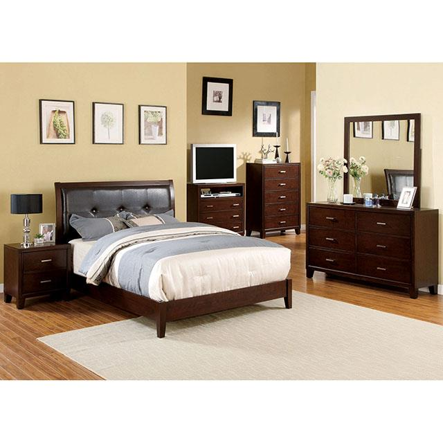 Enrico I Brown Cherry King Bed