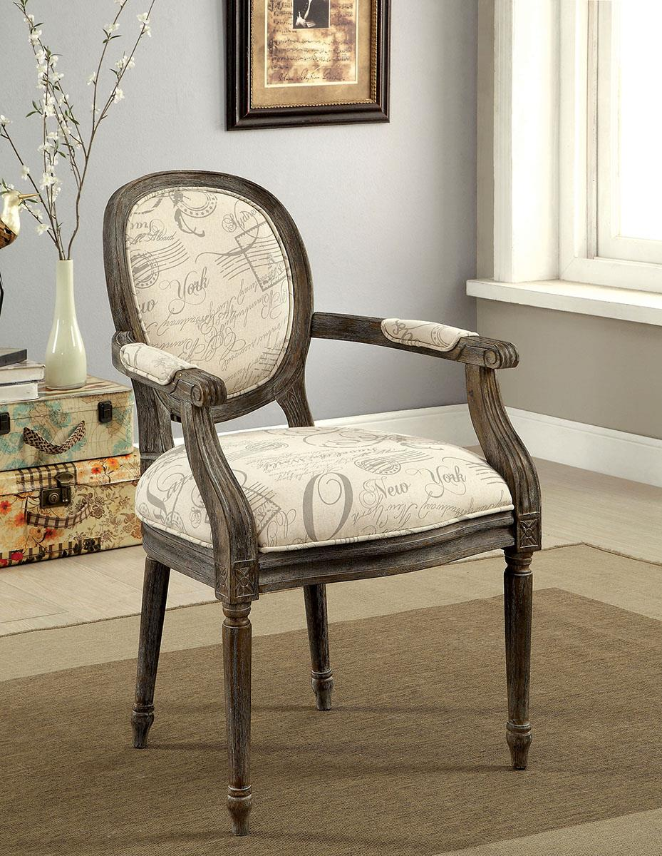 Firth Ii World Traveler Pattern, Reclaimed Gray Accent Chair