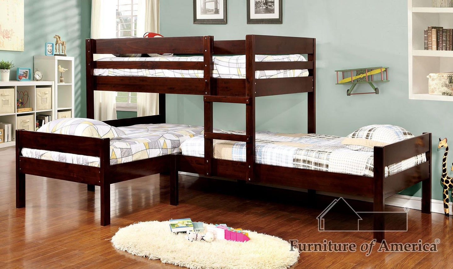 Ranford Espresso Bunk Bed