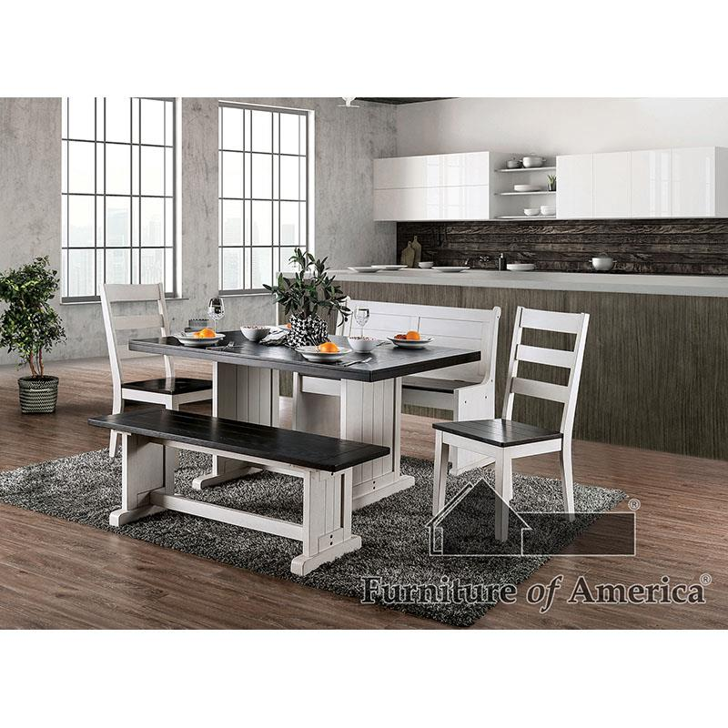 Nekoma Espresso/white 7 Pc Dining Set