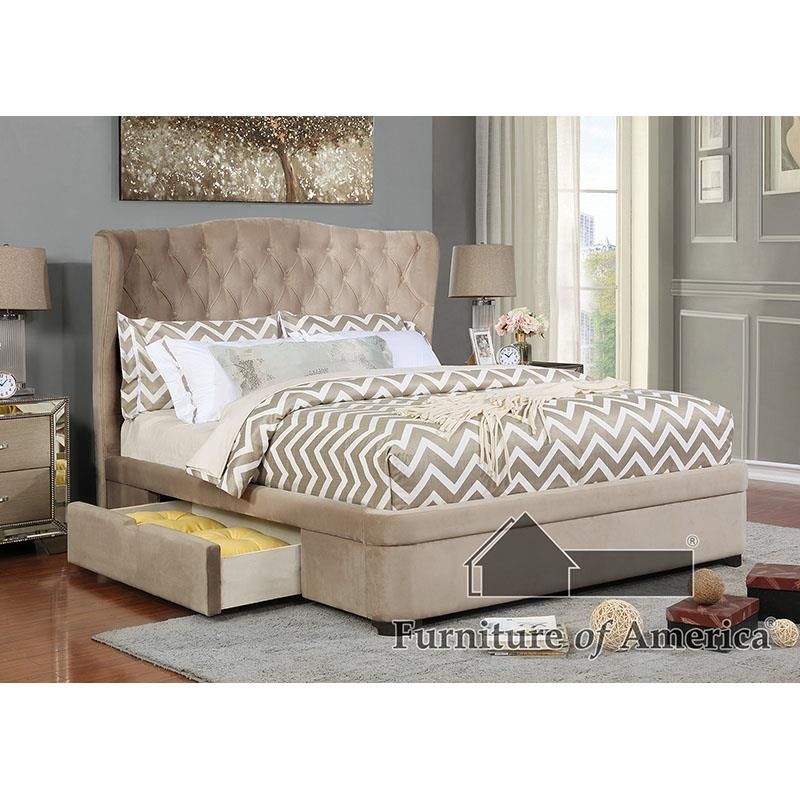 Aoife Taupe King Bed
