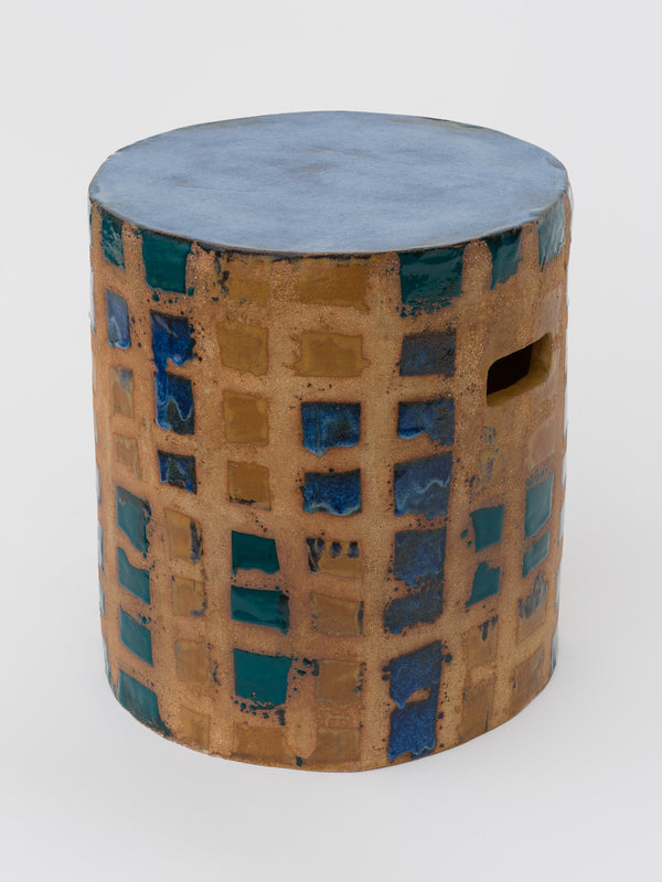 Stool for one (with blue)