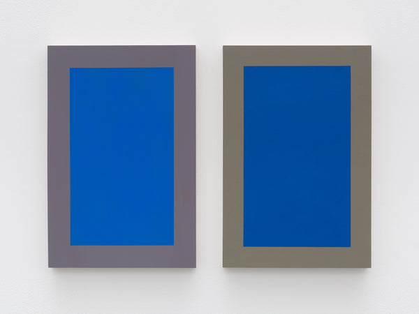 Untitled (Blue Diptych)