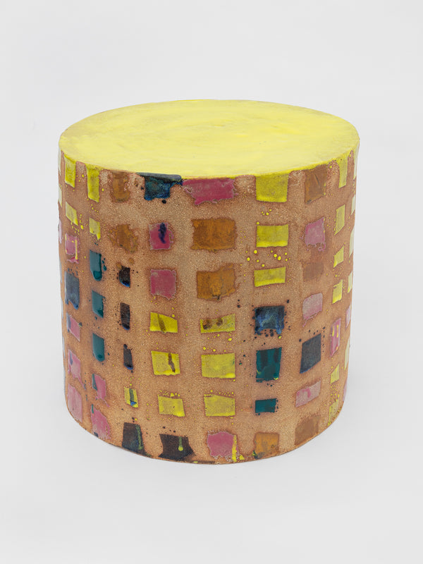 Stool for one (yellow and pink)