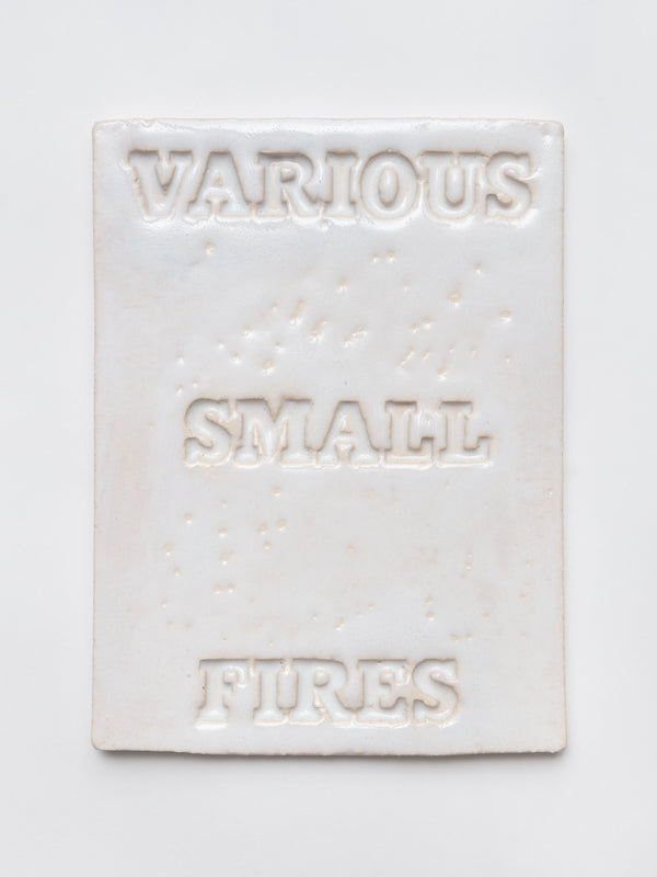 Cover Version (Various Small Fires — white)