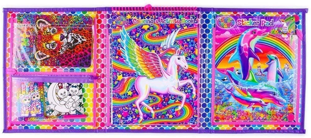 Bendon Lisa Frank Coloring & Activity Set With Fold Out Storage Case —  Hobbypaq