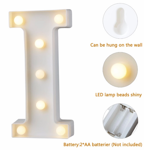 Numbers & Alphabet Letter LED Lights