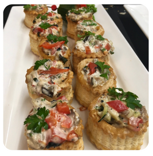 Crab Vol-au-Vents (minimum 2 dozen)
