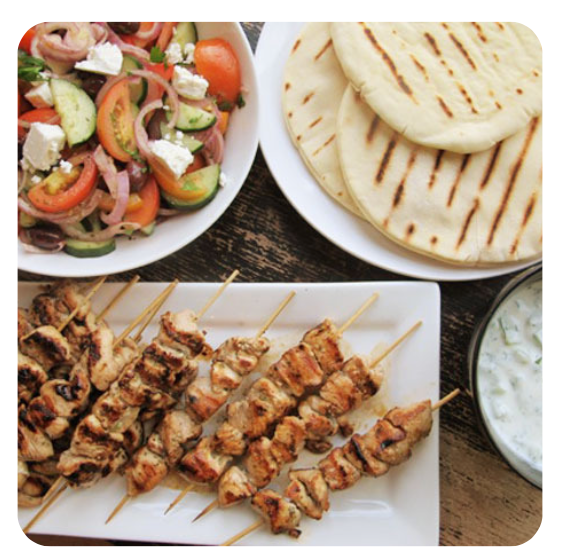 Combo #8 - Chicken Souvlaki
