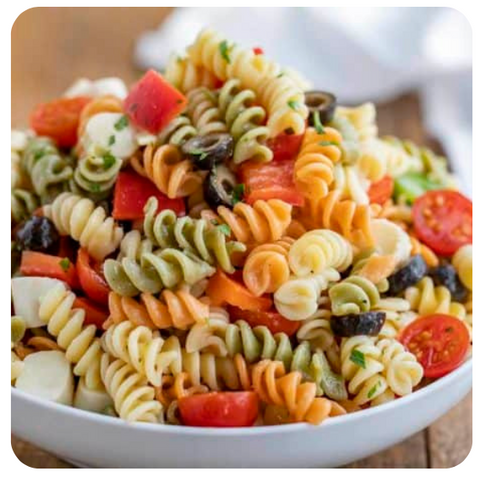 Tri-Coloured Penne Pasta - Traditional Salad (minimum 10 salads)