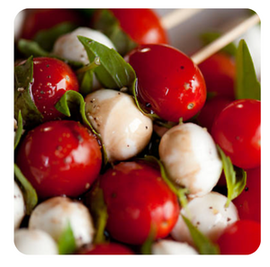 Caprese Skewers (minimum 2 dozen)