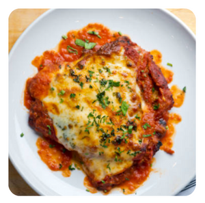 Chicken Parmigiana (minimum 6 pieces)