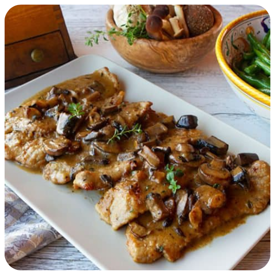 Veal Marsala (minimum 6 pieces)