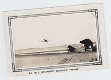 Load image into Gallery viewer, Original Photo - Bellanca Monoplane In Flight - Old Orchard Beach, Maine - 1930