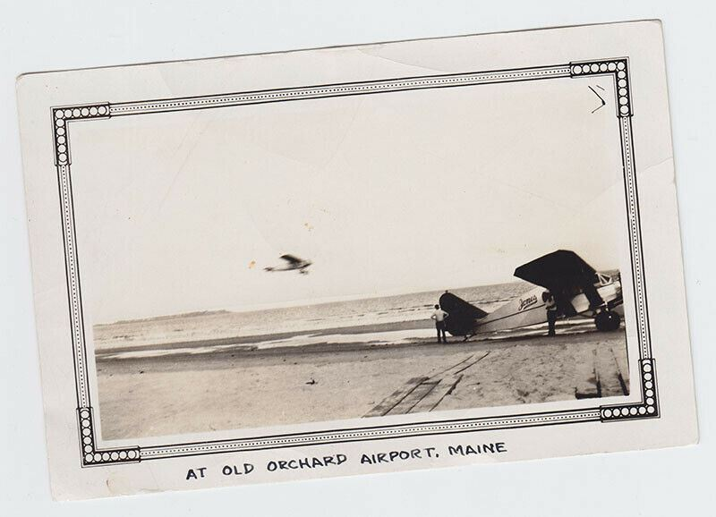 Original Photo - Bellanca Monoplane In Flight - Old Orchard Beach, Maine - 1930