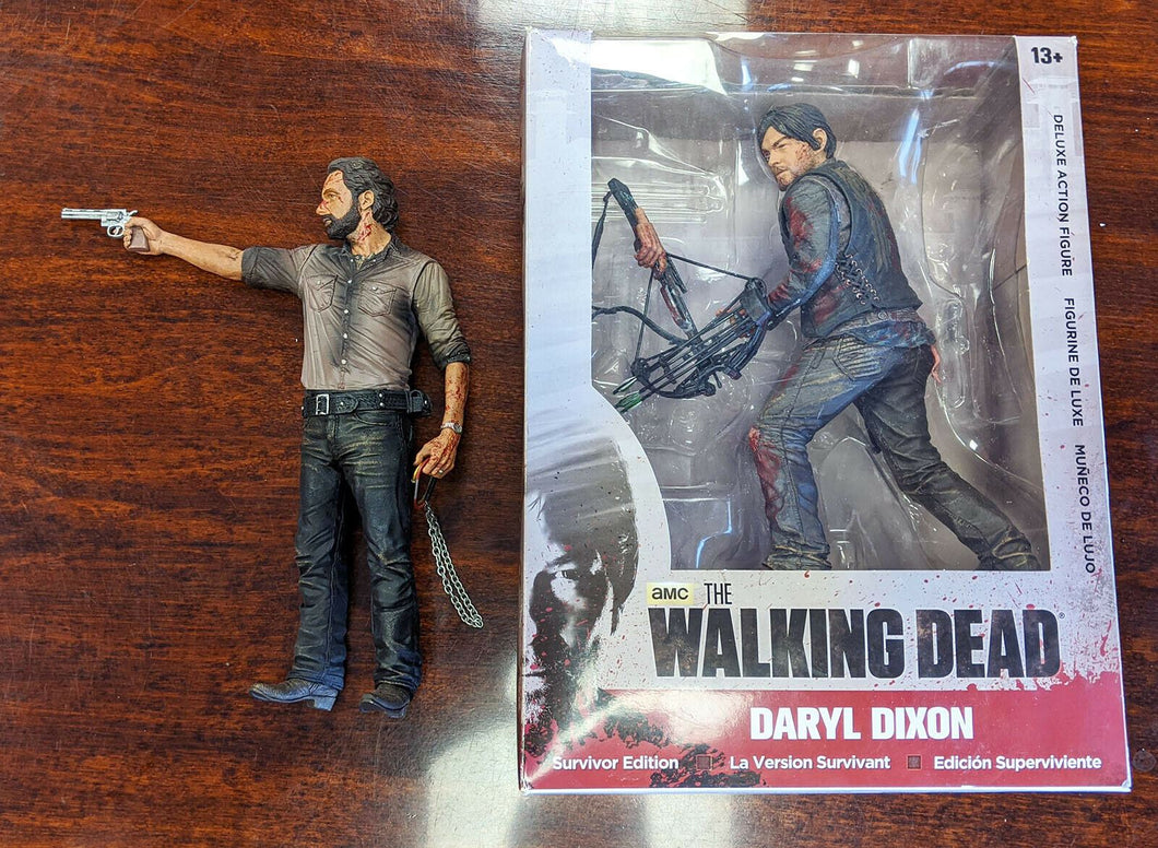 2 x The Walking Dead Action Figures - Rick Grimes & Daryl Dixon