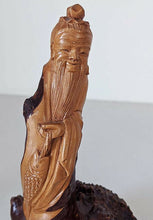 Load image into Gallery viewer, Pair of Hand Carved Root Tree Wood Of Old Man & A Bird