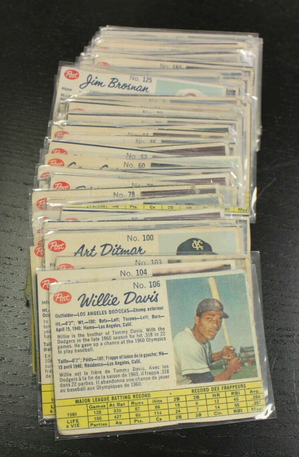 1962 Post Cereal Canada Baseball Cards 88/200 - Missing Cards Noted in Listing