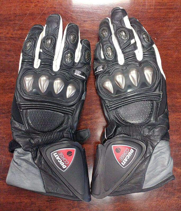 Ducati Corse Leather Gloves by Dainese - Large
