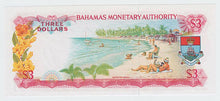 Load image into Gallery viewer, 1968 Bahamas $3 Note - Excellent Condition - Young Queen Portrait