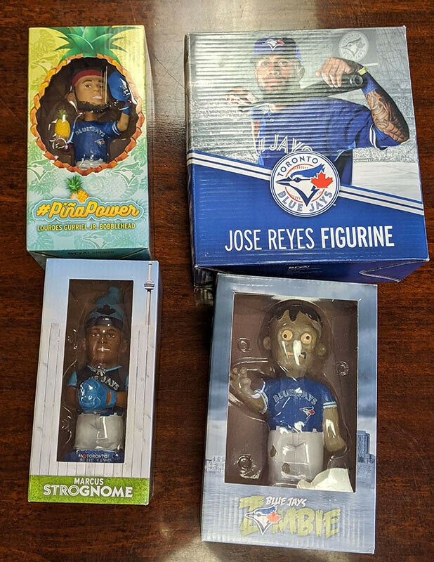 4 Toronto Blue Jays Memorabilia Figures - Reyes, Gurriel Jr., More - MLB