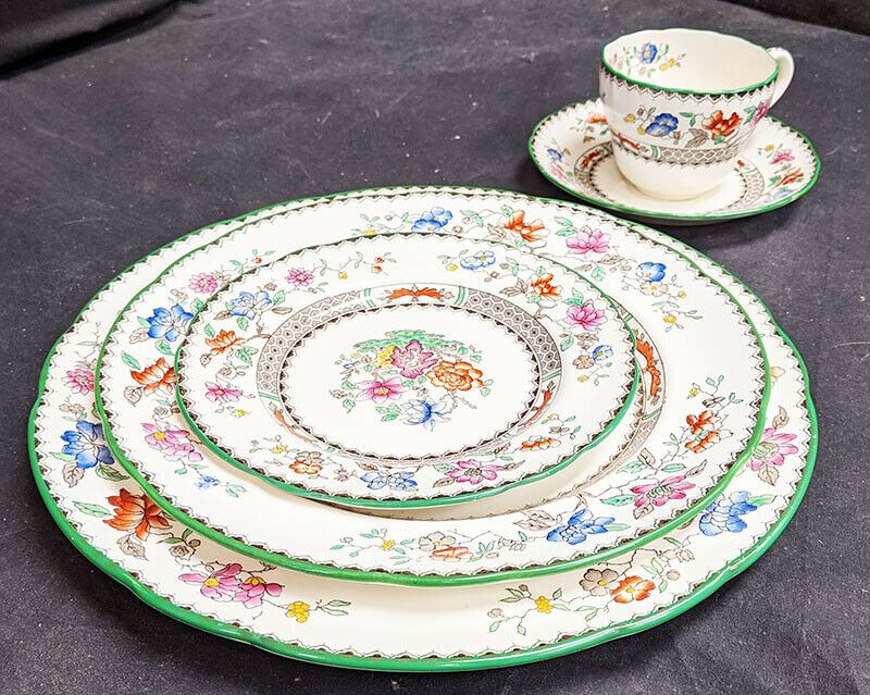 Vintage Copeland Spode - Chinese Rose - 5 Pc. Place Settings