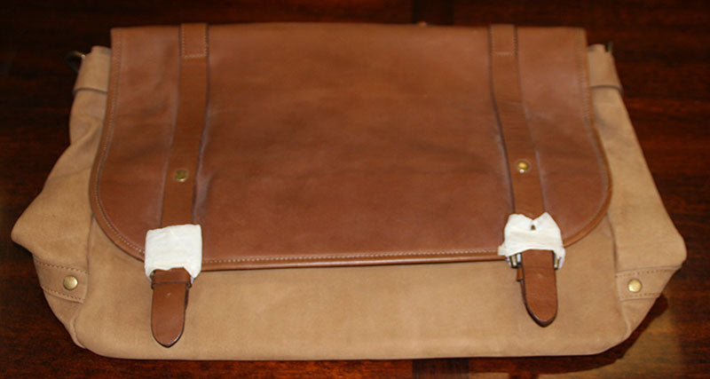 Mens Leather Shoulder Bag / Briefcase With Shoulder Strap - New