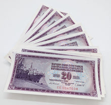 Load image into Gallery viewer, 50 Consecutive 1974 Yugoslavia 20 Dinara Bank Notes – U N C