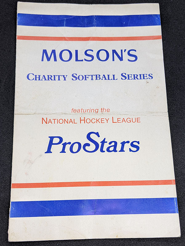 Autographed Molsons Charity Softball Series Featuring National Hockey League