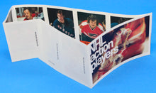 Load image into Gallery viewer, 1974-75 NHL Hockey Action Players Unopened Sticker Panel 30 - Brown, Martin