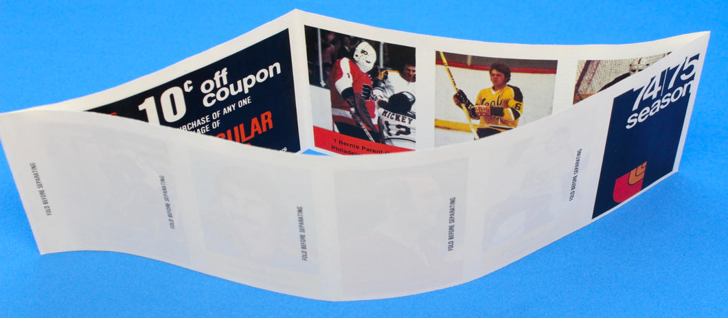 1974-75 NHL Hockey Action Players Unopened Sticker Panel 24 - Parent, Frig, etc.