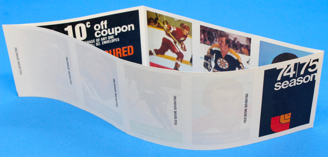 1974-75 NHL Hockey Action Players Unopened Sticker Panel 40 - Lochead/Sheppard