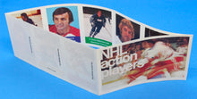 Load image into Gallery viewer, 1974-75 NHL Hockey Action Players Unopened Sticker Panel 40 - Lochead/Sheppard