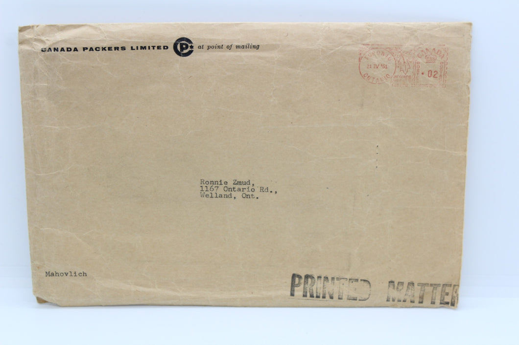 Vintage Canada Packers Limited Mailer