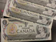 Load image into Gallery viewer, A Run of Consecutive 1973 Bank of Canada $1 Banknotes - $19 CAD Face Value