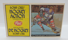 Load image into Gallery viewer, Post Bobby Orr Hockey Action Transfers Book #5 Power Play Goal - Quinn/Magnuson