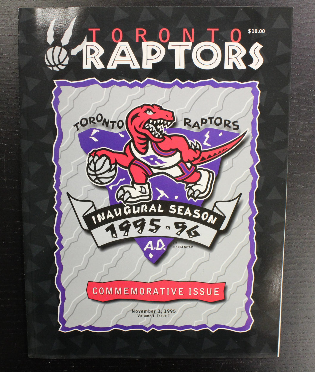 1995-96 Toronto Raptors Inaugural Season Commemorative Issue