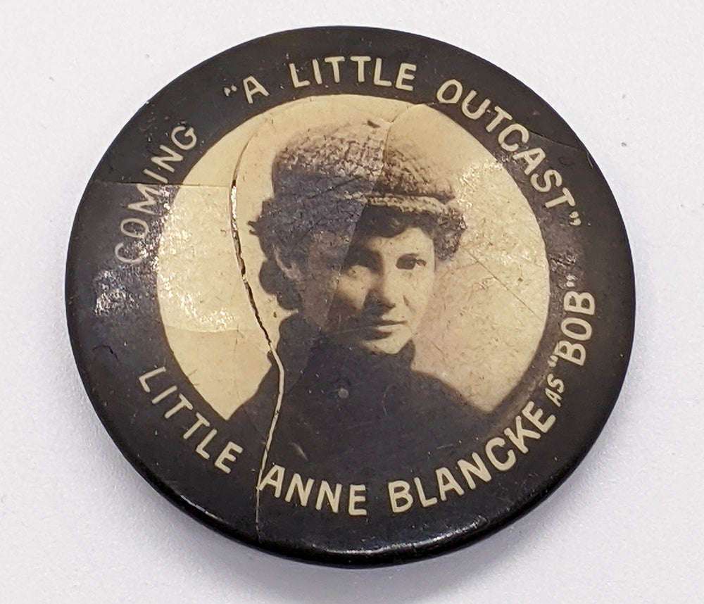 Vintage 1900 Little Anne Blancke As Bob Advertising Pin