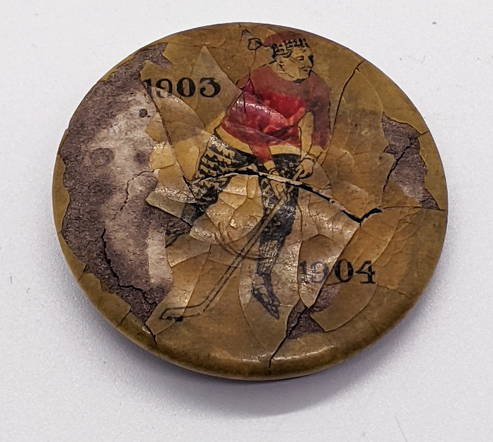 1903 1904 RARE Hockey Pinback Button