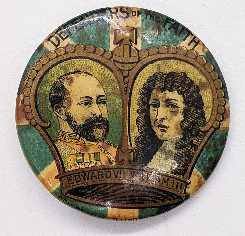 Vintage 1896 Defenders of the Faith Edward VII & William III Pin