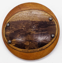 Load image into Gallery viewer, Vintage 1896 Barrie, Ontario Wooden Pinback Button